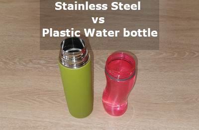 stainless steel vs plastic water bottle