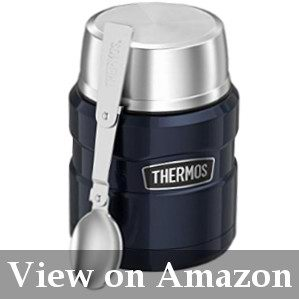 king thermos with folding spoon